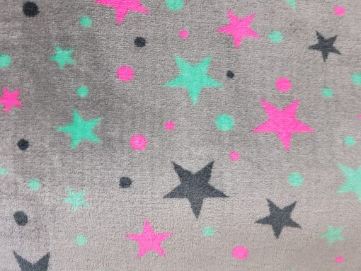 Bollie Bed - Colored Stars on Grey